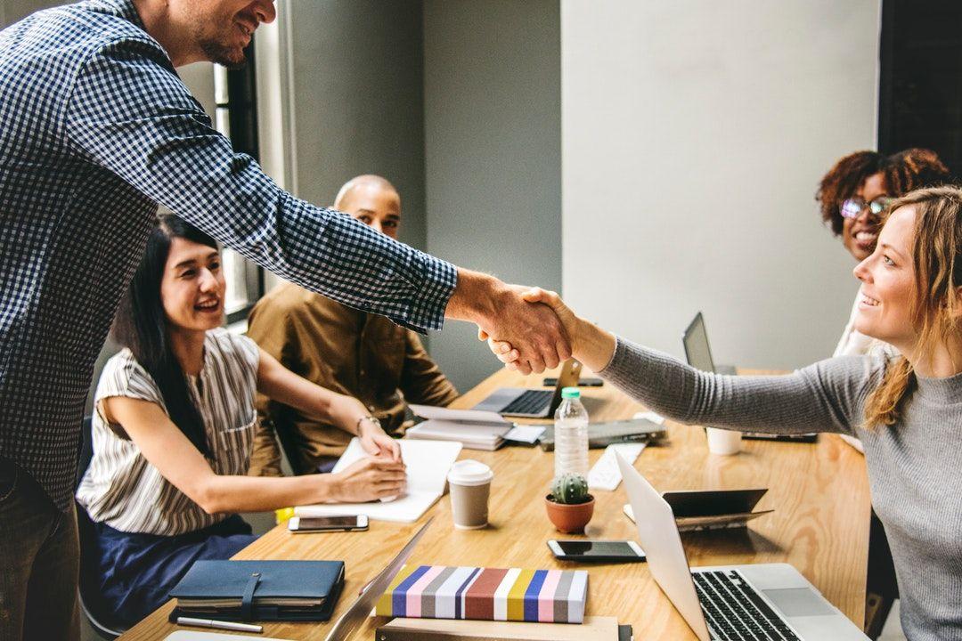 Handshake during Business Meeting